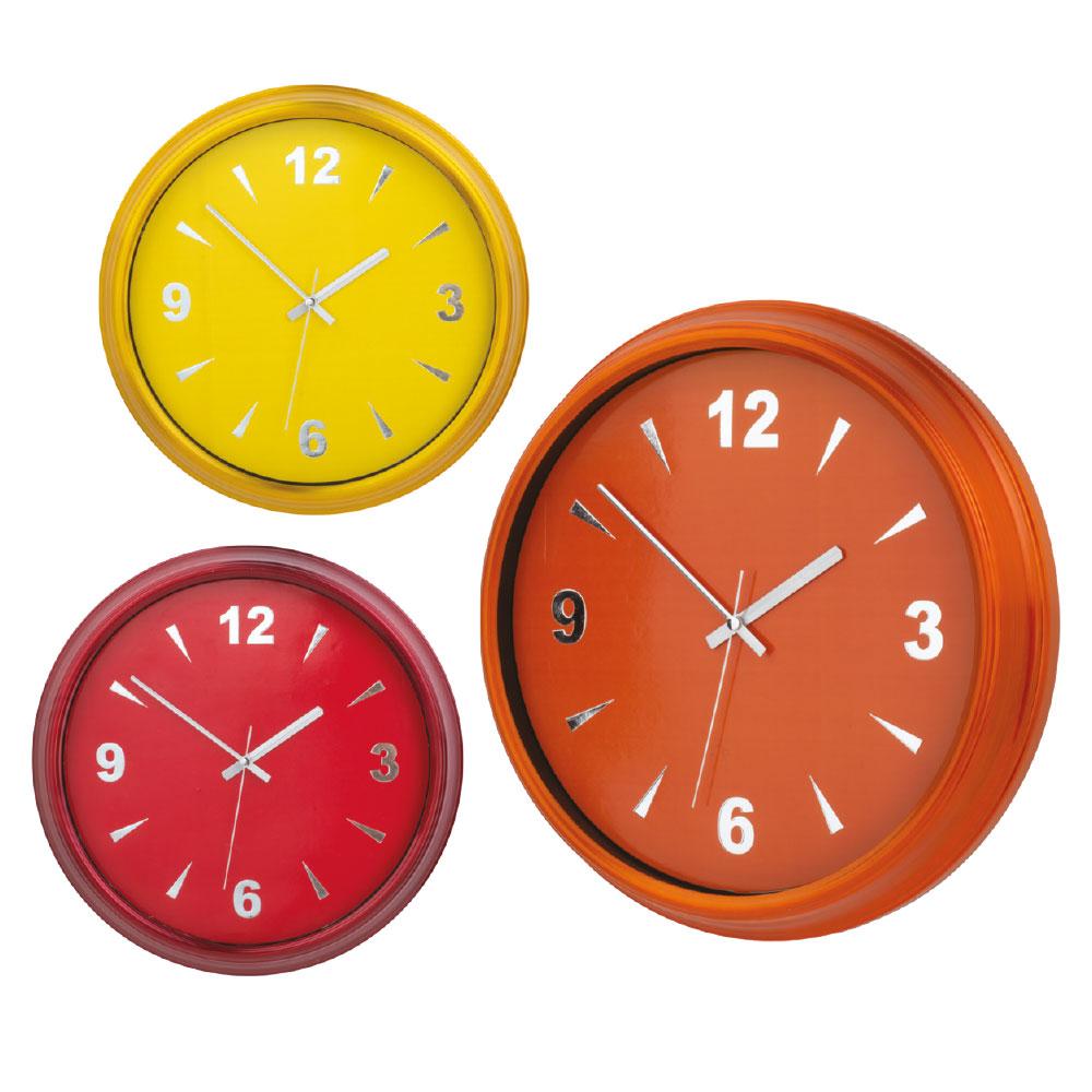 Renkli Alüminyum Çerçeveli Duvar Saati